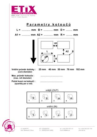 Parametry kotoučů